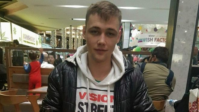Pic shows Beniamin Pieknyi Three thugs who knifed a Romanian takeaway worker to death in a busy shopping centre close to the Olympic Park were jailed for almost 50 years.? Beniamin Pieknyi, 21, was knifed once in the chest at the Stratford Centre shopping mall in east London on March 20 this year.? Mr Pieknyi, from Milton Keynes, came to London to meet up with his friend Alexandru Suciu, 25, and was in 'the wrong place at the wrong time'. SEE STORY CENTRAL NEWS
