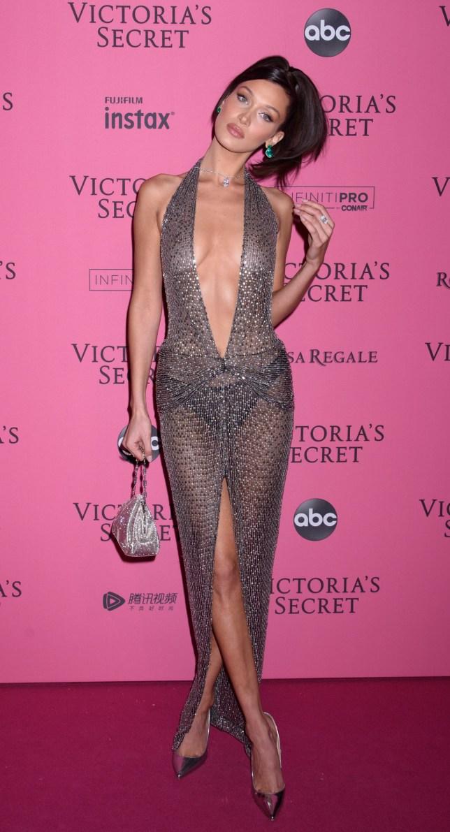 543fe2cfde7 Gigi and Bella Hadid Walk Pink Carpet at Victoria s Secret Fashion Show  Afterparty Pier 94