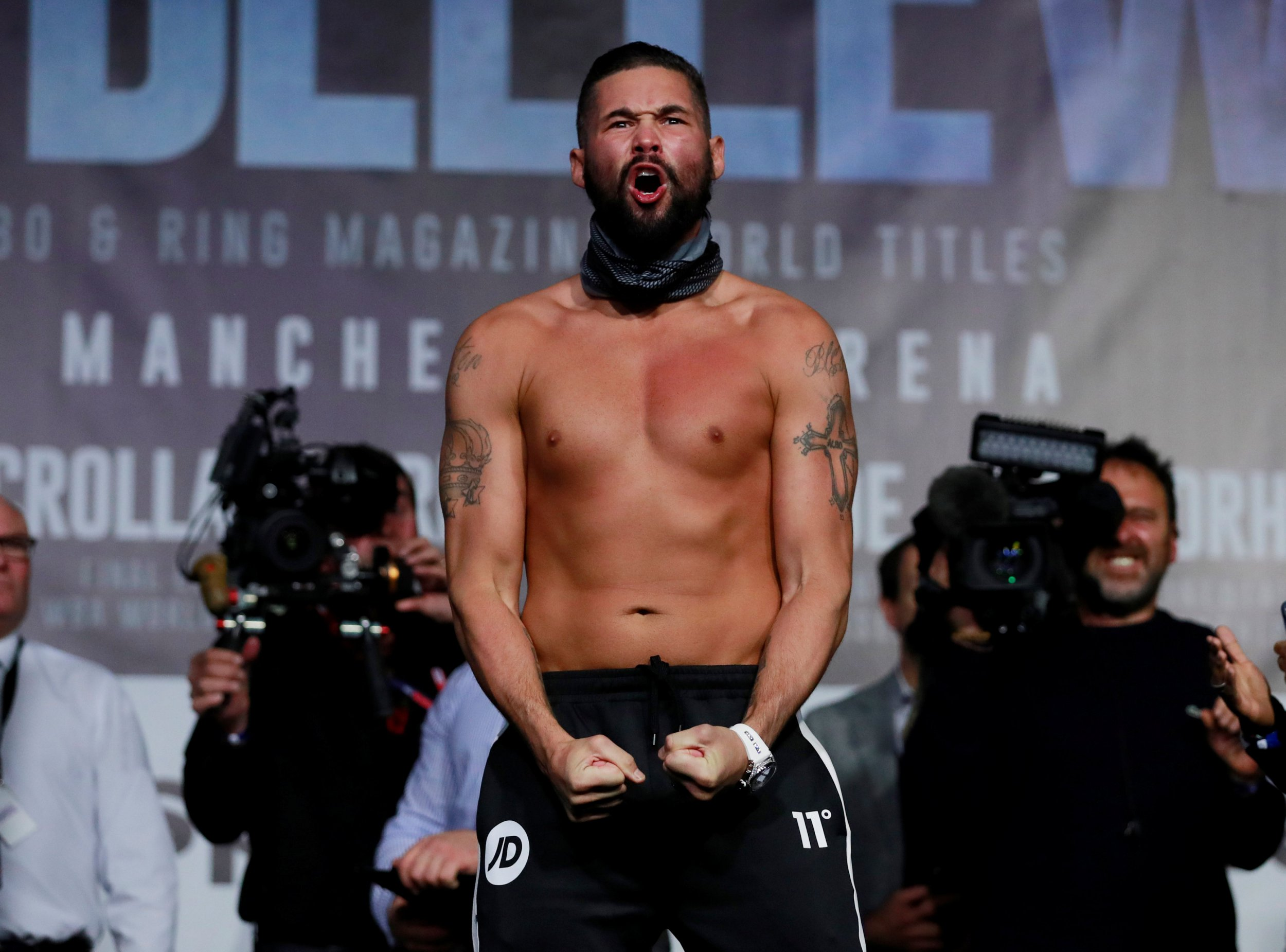 Boxing - Oleksandr Usyk & Tony Bellew Weigh-In - Manchester Central, Manchester, Britain - November 9, 2018 Tony Bellew during the weigh-in Action Images via Reuters/Andrew Couldridge