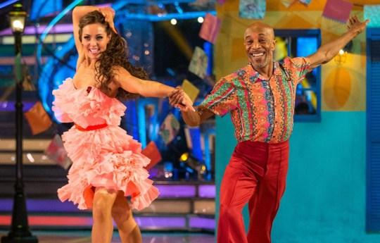 EMBARGOED TO 2025 SATURDAY NOVEMBER 10 For use in UK, Ireland or Benelux countries only Undated BBC handout photo of Amy Dowden and Danny John-Jules during the dress rehearsal for Saturday's Strictly Come Dancing live show on BBC One. PRESS ASSOCIATION Photo. Issue date: Saturday November 10, 2018. Photo credit should read: Guy Levy/PA Wire NOTE TO EDITORS: Not for use more than 21 days after issue. You may use this picture without charge only for the purpose of publicising or reporting on current BBC programming, personnel or other BBC output or activity within 21 days of issue. Any use after that time MUST be cleared through BBC Picture Publicity. Please credit the image to the BBC and any named photographer or independent programme maker, as described in the caption.