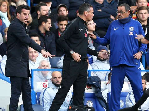 Marco Silva plays down touchline row with Chelsea boss Maurizio Sarri