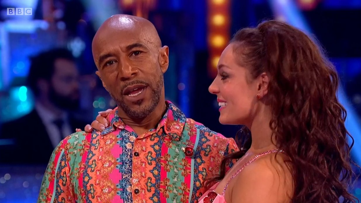 Danny John-Jules voted off Strictly Come Dancing. 11.11.2018 (Picture: BBC)