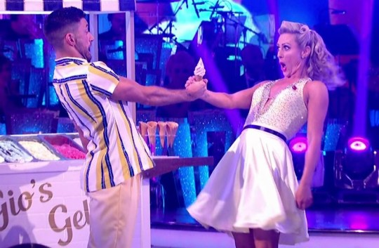 Faye Tozer and Giovanni Pernice perform for the judges on 'Strictly Come Dancing'. Broadcast on BBC One Featuring: Faye Tozer, Giovanni Pernice When: 10 Nov 2018 Credit: Supplied by WENN **WENN does not claim any ownership including but not limited to Copyright, License in attached material. Fees charged by WENN are for WENN's services only, do not, nor are they intended to, convey to the user any ownership of Copyright, License in material. By publishing this material you expressly agree to indemnify, to hold WENN, its directors, shareholders, employees harmless from any loss, claims, damages, demands, expenses (including legal fees), any causes of action, allegation against WENN arising out of, connected in any way with publication of the material.**
