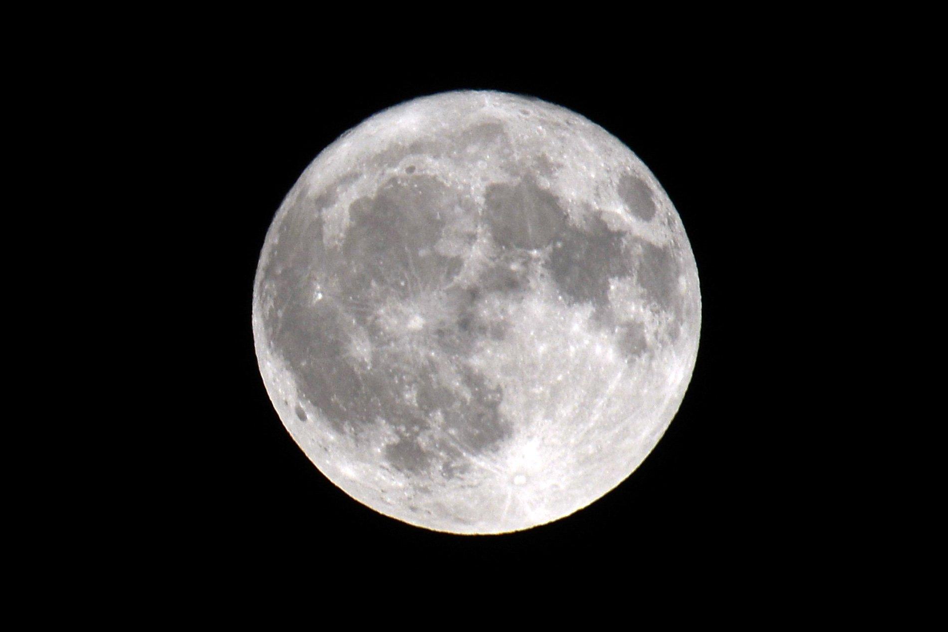 Mandatory Credit: Photo by Slavek Ruta/REX/Shutterstock (9944199b) The Full Moon. The Full Moon over Czech Paradise, Czech Republic - 24 Oct 2018
