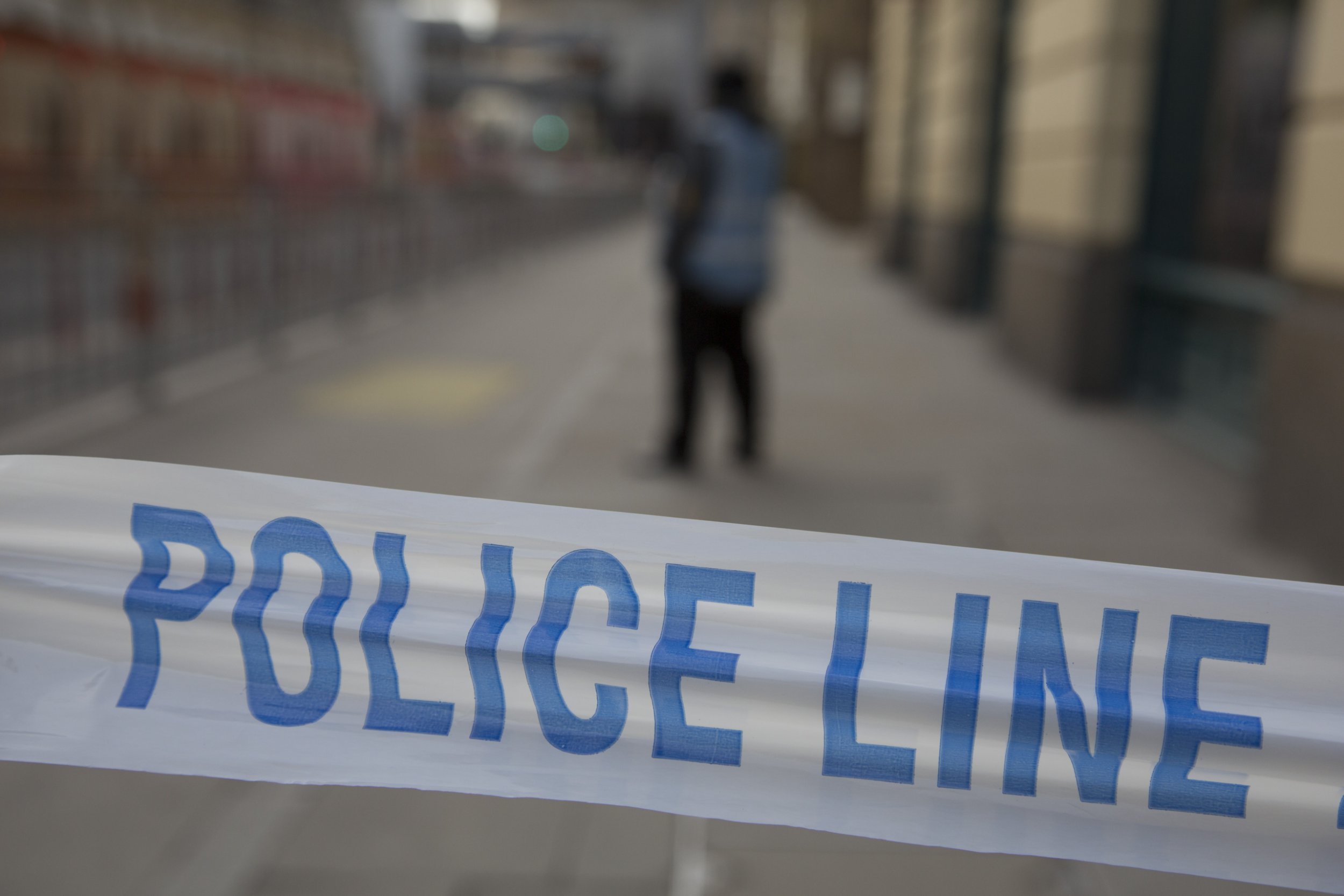 """London Bridge Station was evacuated due to an abandoned vehicle on 7th March 2017, in London, United Kingdom. The area was cordoned off by police leaving hundreds of people beyond the??police cordon. The vehicle had been deemed """"suspicious"""" by the Metropolitan Police Service, and so the entire area was off limits while the emergency services and bomb squad dealt with the issue. (photo by Mike Kemp/In Pictures via Getty Images)"""