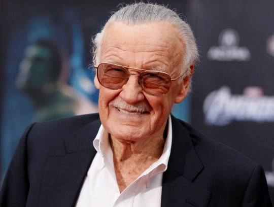 """FILE PHOTO - Comic book creator and executive producer Stan Lee poses at the world premiere of the film """"Marvel's The Avengers"""" in Hollywood, California, April 11, 2012. REUTERS/Danny Moloshok/File Photo"""