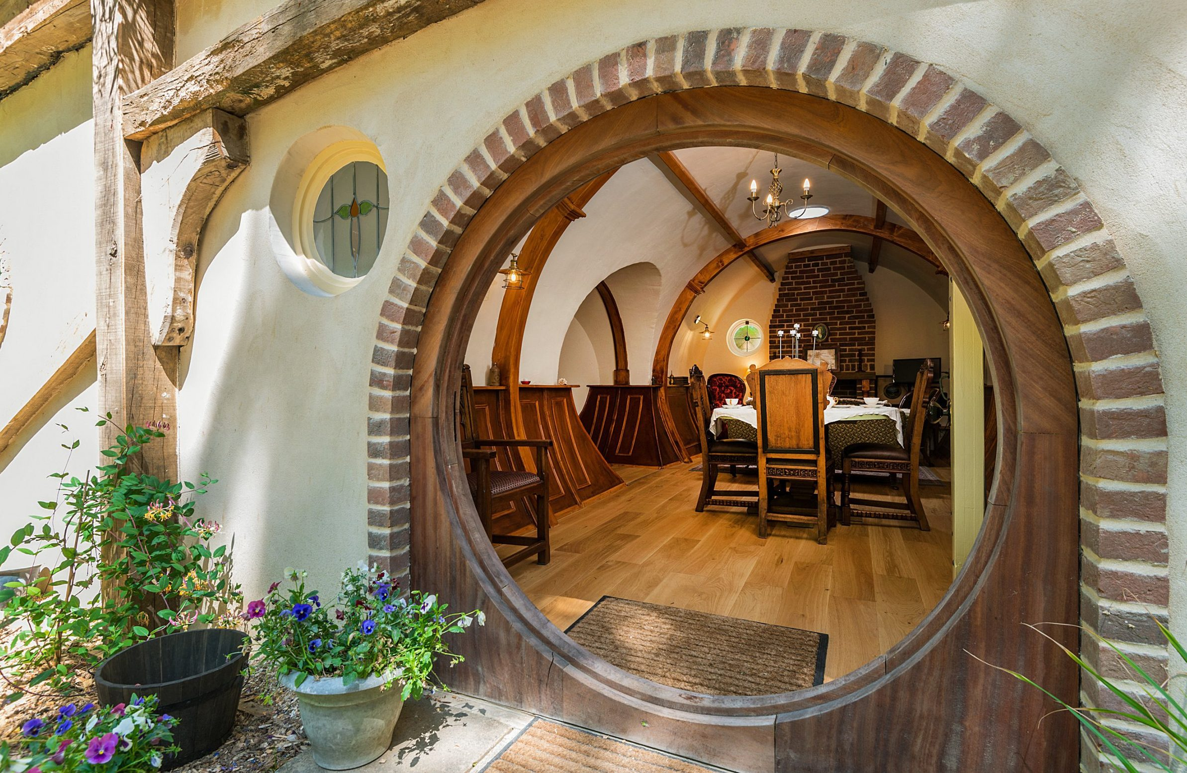 BNPS.co.uk (01202 558833) Pic : QualityUnearthed/BNPS Fans of Lord of the Rings and JRR Tolkien's fantasy world can now live like a hobbit for as little as ?100 a night. Shire Hollow is a hand-crafted Hobbit house inspired by the iconic mythical series, with its circular doors, curved walls and earthen roof. But luckily the quirky holiday let, which sits in a beautiful woodland estate in the Suffolk countryside, is human-sized and can sleep up to four guests.