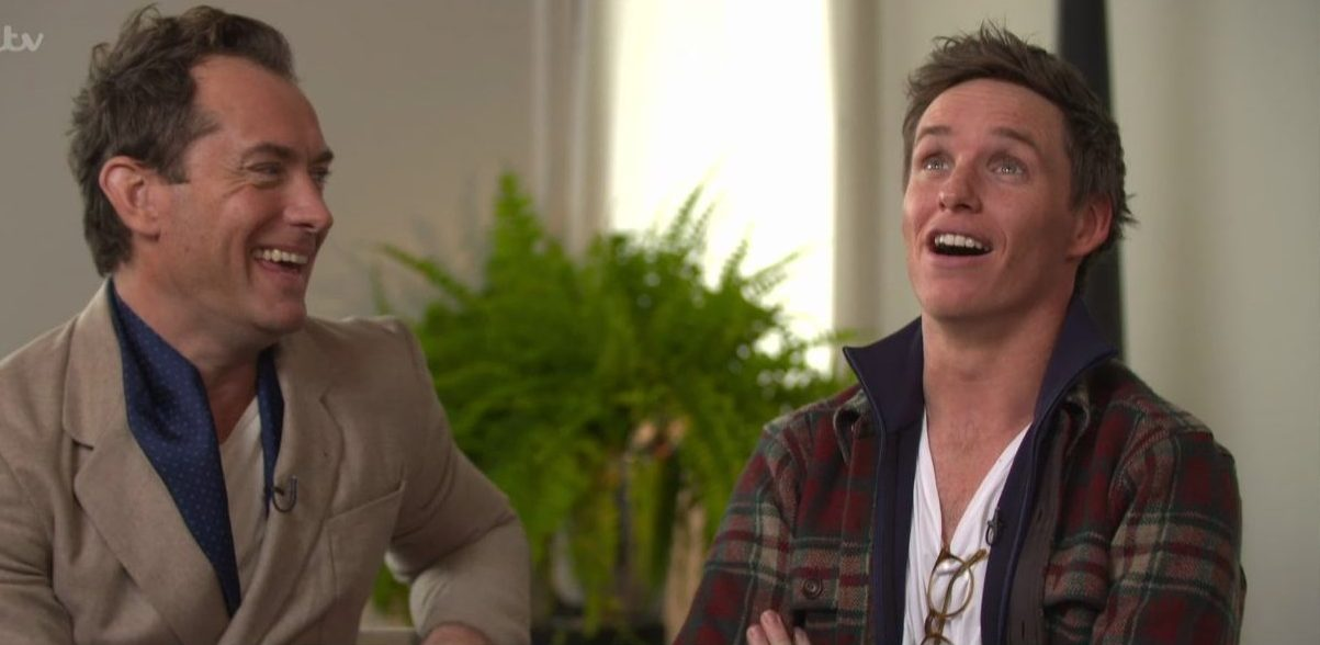 Jude Law and Eddie Redmayne promote their new movie 'Fantastic Beasts: The Crimes of Grindelwald' on 'This Morning'. Broadcast on ITV1 Featuring: Jude Law, Eddie Redmayne When: 13 Nov 2018 Credit: Supplied by WENN **WENN does not claim any ownership including but not limited to Copyright, License in attached material. Fees charged by WENN are for WENN's services only, do not, nor are they intended to, convey to the user any ownership of Copyright, License in material. By publishing this material you expressly agree to indemnify, to hold WENN, its directors, shareholders, employees harmless from any loss, claims, damages, demands, expenses (including legal fees), any causes of action, allegation against WENN arising out of, connected in any way with publication of the material.**