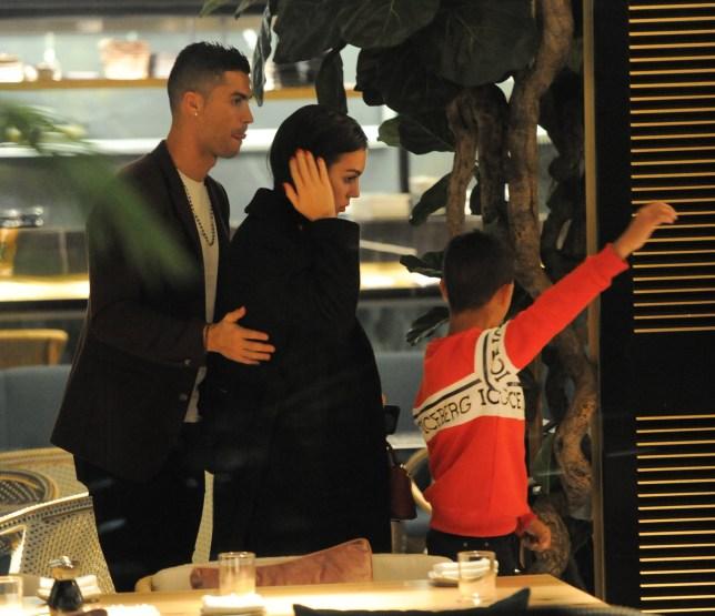 Cristiano Ronaldo,Georgina Rodriguez and son Cristiano Ronaldo Junior seen at ZELA Restaurant Pictured: Cristiano Ronaldo,Georgina Rodriguez,Cristiano Ronaldo Junior Ref: SPL5041674 141118 NON-EXCLUSIVE Picture by: PALACE LEE / SplashNews.com Splash News and Pictures Los Angeles: 310-821-2666 New York: 212-619-2666 London: 0207 644 7656 Milan: 02 4399 8577 photodesk@splashnews.com World Rights,