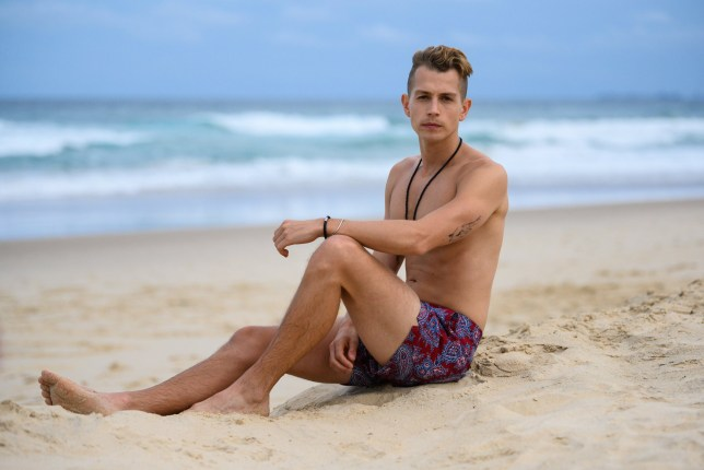 PREMIUM RATES APPLY. STRICT EMBARGO - NOT TO BE USED BEFORE 22:30 GMT, 15 NOV 2018 - EDITORIAL USE ONLY. FOR PRINT USAGE, CALL YOUR ACCOUNT MANAGER FOR PRICING Mandatory Credit: Photo by James Gourley/REX (9980447q) James McVey 'I'm a Celebrity...Get Me Out of Here!' TV show, contestants on the beach, Surfers Paradise, Queensland, Australia - 15 Nov 2018