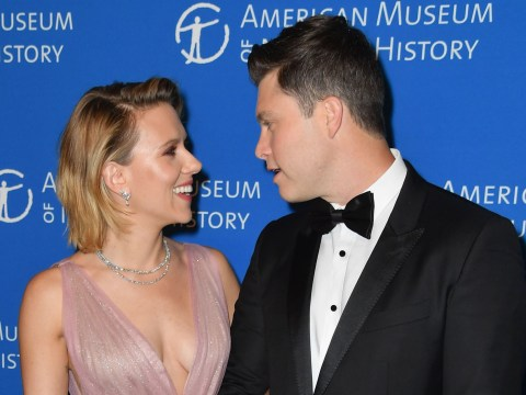 Scarlett Johansson and boyfriend Colin Jost are full of sweet affection on red carpet at Natural History Gala