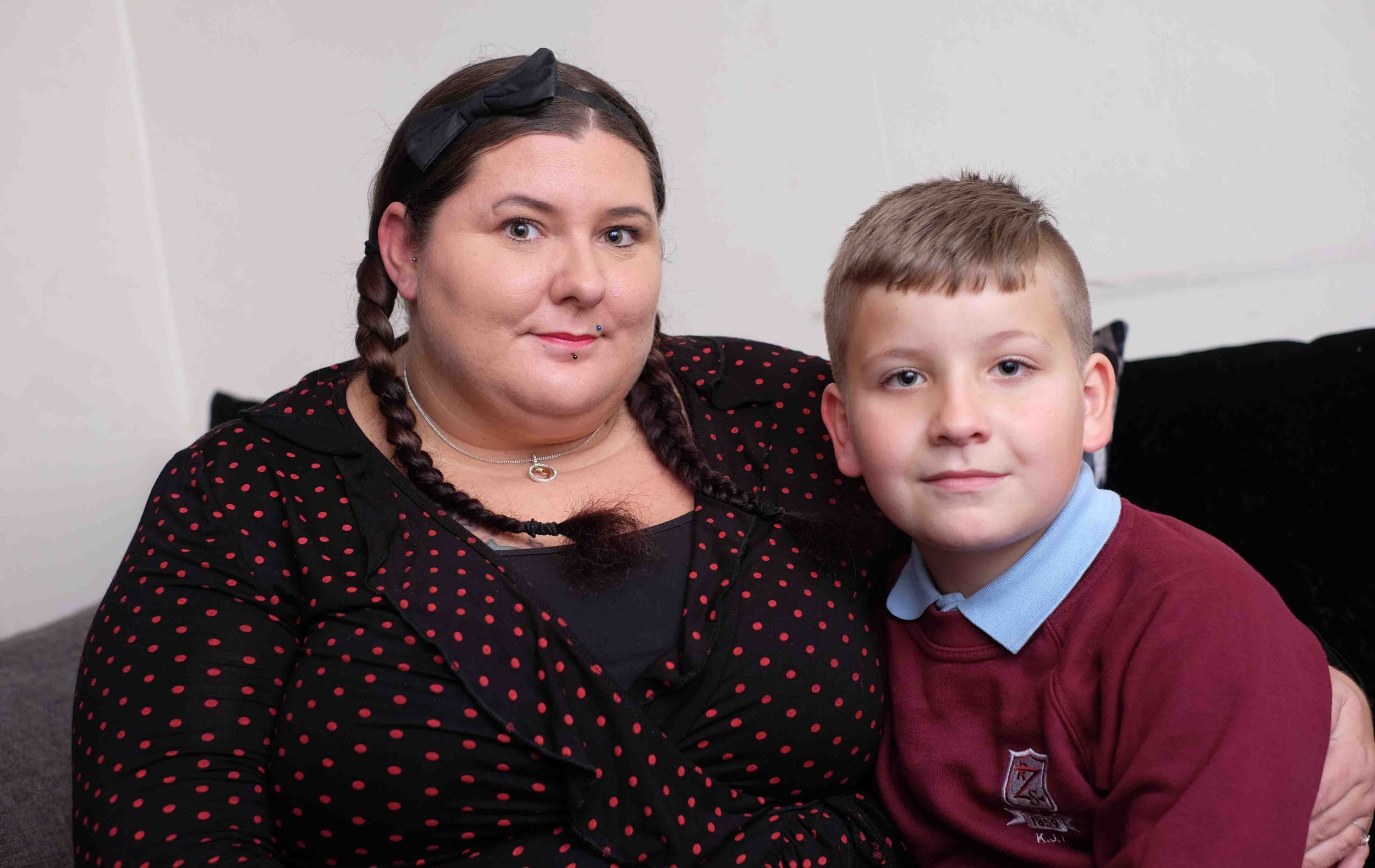 A mum has hit out at her son's primary after being hit with a fine of up to ?240 - as she claims he only missed half a day of school. Sabrina Thompson said her family was returning home from a holiday at Flamingo Land - and had informed Zetland Primary, in Redcar, that eight-year-old son Kai would miss the morning session. Kai also missed the afternoon session on the first day of term on September 4, as he had a hospital appointment to have splints fitted to his legs. Sabrina and husband Jonathon - who are both disabled - later received fines, dished out for taking Kai on holiday in term time. Sabrina Thompson who was fined for keeping her son Kai , 8 off school for the first day of term in September.