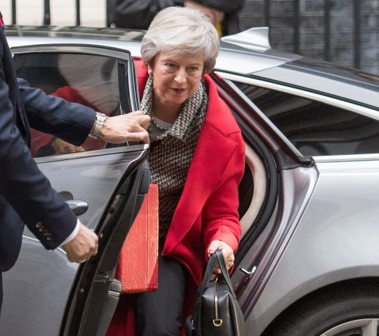 British Prime Minister Theresa May arrives at 10 Downing Street following a radio interview at LBC Pictured: Theresa May Ref: SPL5042398 161118 NON-EXCLUSIVE Picture by: SplashNews.com Splash News and Pictures Los Angeles: 310-821-2666 New York: 212-619-2666 London: 0207 644 7656 Milan: 02 4399 8577 photodesk@splashnews.com World Rights,