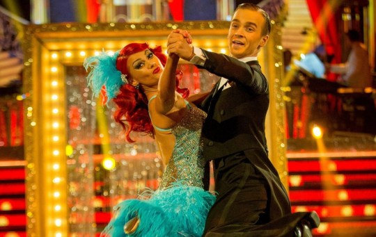 For use in UK, Ireland or Benelux countries only BBC handout photo dated 17/11/18 of Dianne Buswell and Joe Sugg taking part in Saturday's Strictly Come Dancing live show from Blackpool on BBC One. PRESS ASSOCIATION Photo. Issue date: Saturday November 17, 2018. See PA story SHOWBIZ Strictly. Photo credit should read: Guy Levy/BBC/PA Wire NOTE TO EDITORS: Not for use more than 21 days after issue. You may use this picture without charge only for the purpose of publicising or reporting on current BBC programming, personnel or other BBC output or activity within 21 days of issue. Any use after that time MUST be cleared through BBC Picture Publicity. Please credit the image to the BBC and any named photographer or independent programme maker, as described in the caption.