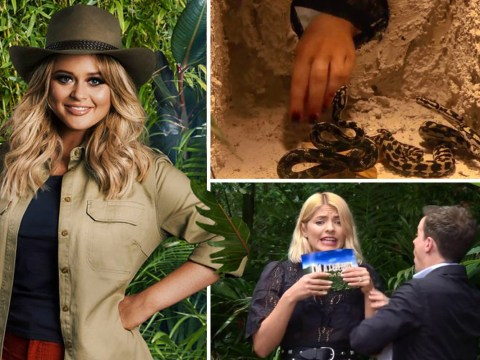 I'm A Celebrity's Emily Atack bitten by snake in absolutely terrifying clip of first Bushtucker trial