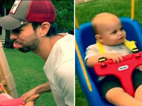 Enrique Iglesias fails to entertain his young twins in adorable video