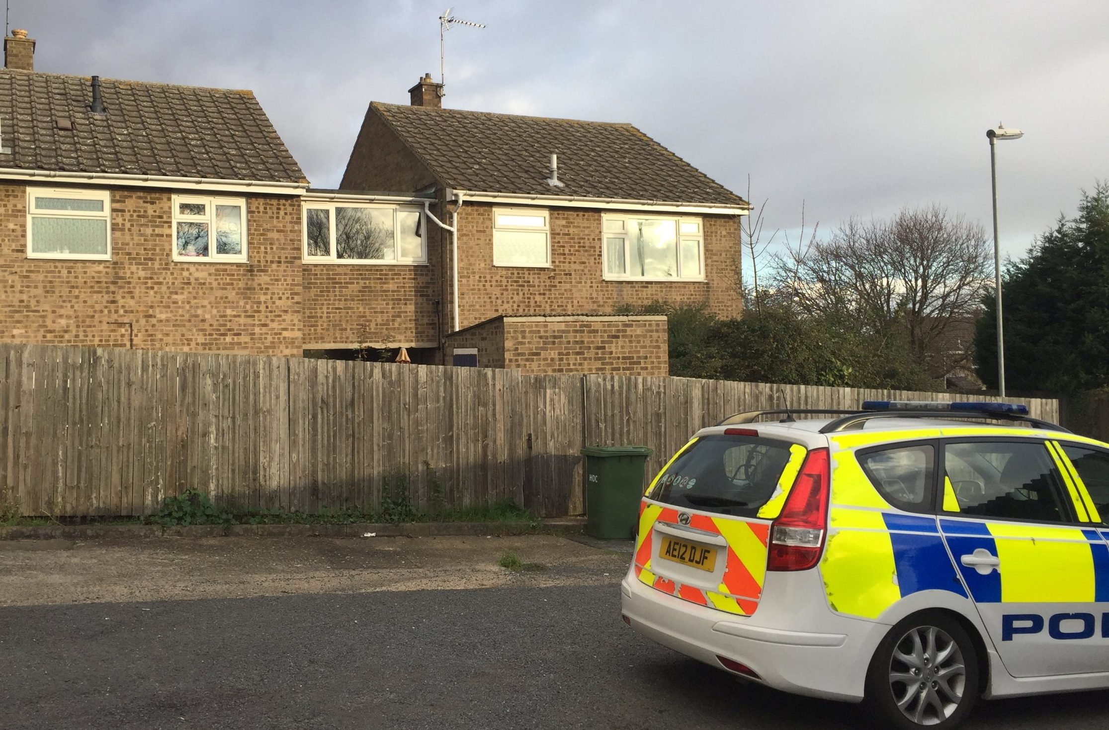 Police on Wykes Road, Peterborough, Cambs, after a baby was attacked by a Staffordshire Bull Terrier in a house on the road in the early morning of Sunday November 18 2018. See SWNS story SWCAbaby.A baby boy is fighting for life today after being attacked by a Staffordshire Bull Terrier.The un-named baby was attacked at 1.47am on Sunday at a house in Yaxley, near Peterborough, Cambs.The baby, which is under a year old, is currently in Addenbrooke?s Hospital in Cambridge with life-threatening injuries.A 28-year-old-man and a 31-year-old woman have been arrested on suspicion of child neglect and two Staffordshire Bull Terriers seized following the incident.