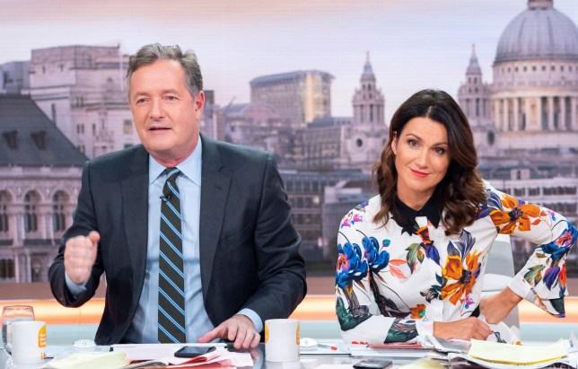 Editorial use only Mandatory Credit: Photo by Ken McKay/ITV/REX (9985346f) Piers Morgan and Susanna Reid 'Good Morning Britain' TV show, London, UK - 20 Nov 2018