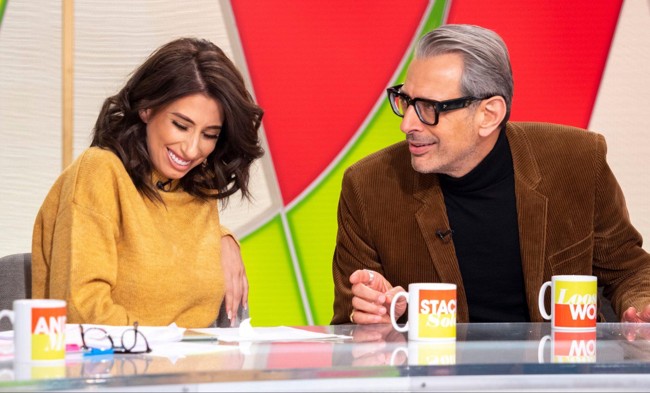 Stacey Solomon jokes about masturbation with Jeff Goldblum in rude TV interview