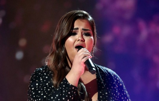 EDITORIAL USE ONLY - NO BOOK PUBLISHING Mandatory Credit: Photo by Dymond/Thames/Syco/REX (9990782bc) Scarlett Lee 'The X Factor' TV show, Series 15, Episode 26, London, UK - 25 Nov 2018