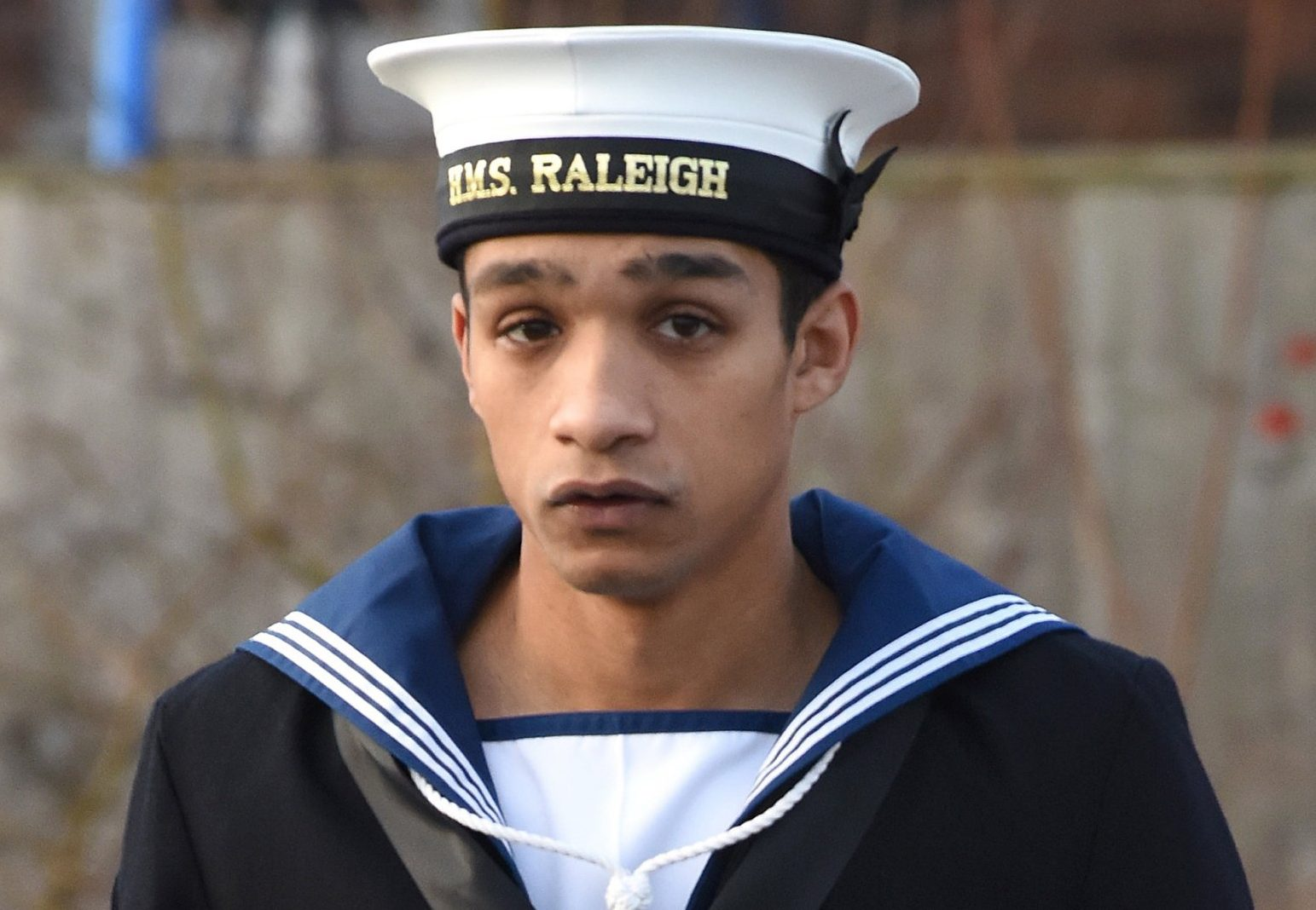 "Pictured: Able Seaman Troy Griffiths. A Royal Navy sailor pinned down a colleague and tried to insert his penis into his mouth before rubbing it all over his face, a court martial heard today. Able Seaman Troy Griffiths, stationed at HMS Raleigh in Cornwall, carried out the attack because he thought it was ""banter"", his victim claimed. The sailor, who cannot be named for legal reasons, was pinned down by a group in their mess quarters while they were getting ready for bed, Bulford Military Court heard. Griffiths returned from the showers naked and approached the sailor who was lying on his bed, allegedly putting his knees on either side of his chest so he could not move, while two others held each of his arms. SEE OUR COPY FOR DETAILS. ? Solent News & Photo Agency UK +44 (0) 2380 458800"
