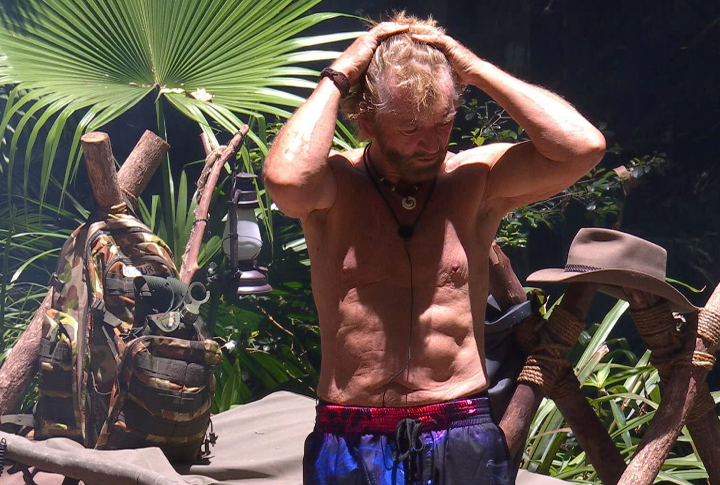 STRICT EMBARGO - NOT TO BE USED BEFORE 22:00 GMT, 26 NOV 2018 - EDITORIAL USE ONLY Mandatory Credit: Photo by ITV/REX (9992881hk) Noel and Nick Tension - Noel Edmonds 'I'm a Celebrity... Get Me Out of Here!' TV Show, Series 18, Australia - 26 Nov 2018