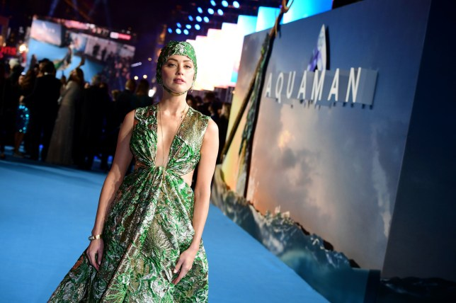 Amber Heard attending the Aquaman premiere held at Cineworld in Leicester Square, London. PRESS ASSOCIATION PHOTO. Picture date: Monday November 26, 2018. Photo credit should read: Ian West/PA Wire
