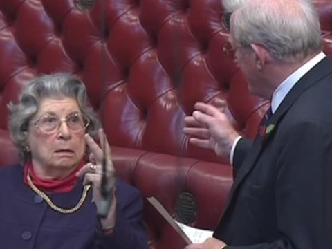 Baroness Trumpington who flicked V-sign at Tory peer dies aged 96