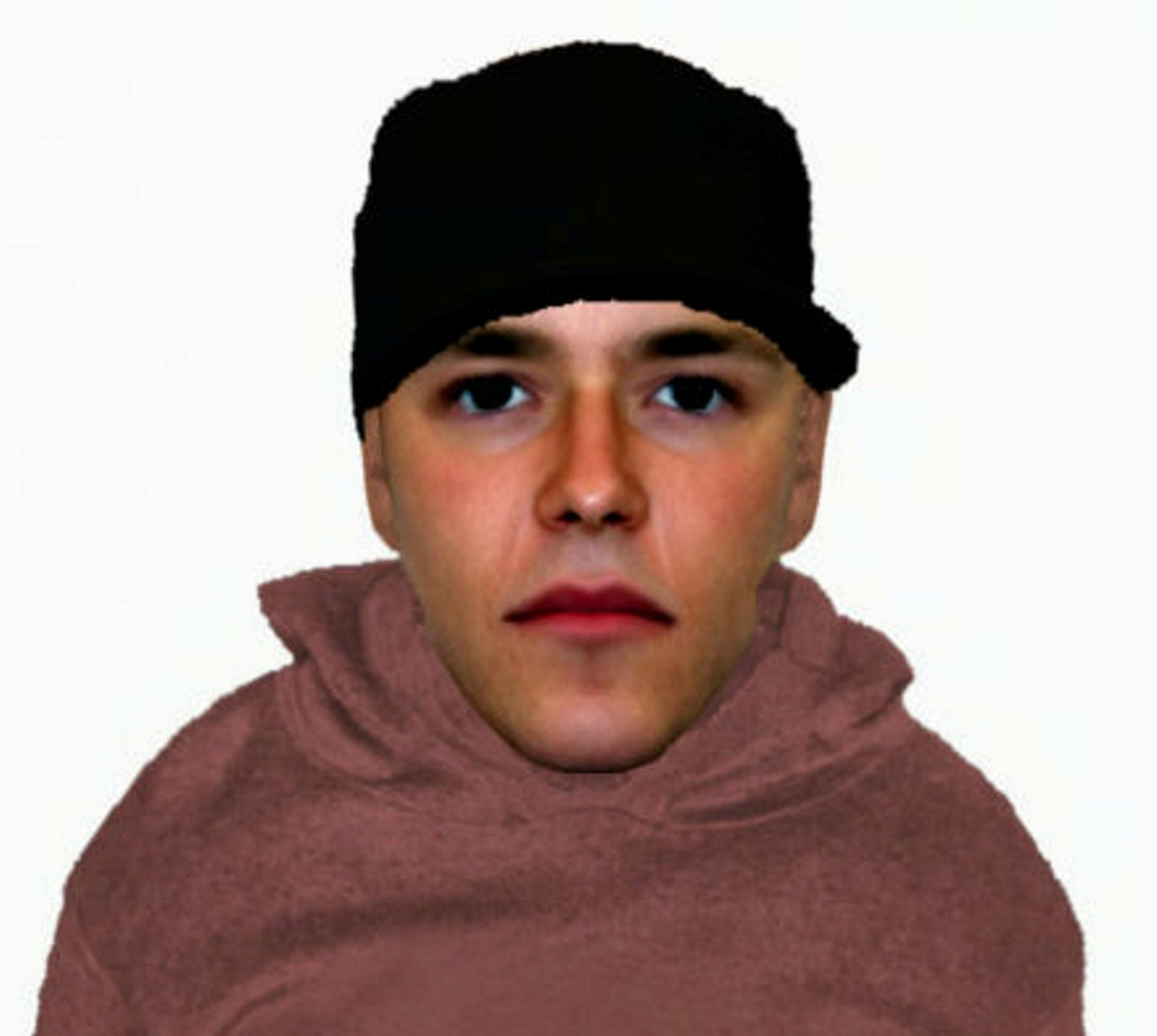 The e-fit sketch released by Northamptonshire Police of a suspect accused of slapping a woman?s bottom- who looks just like Justin Bieber.See SWNS story SWMDbieber.Police are hunting a Justin Bieber look-a-like accused of slapping a woman?s bottom.Officers are hunting the pervert who also tried to kiss the victim as he approached her in a street in broad daylight.Northamptonshire Police released the image of the suspect which was mocked on social media for the man?s similarity to the 24-year-old pop star.The bizarre e-fit shows the suspect wearing a black baseball cap and what appears to be a brown shawl covering his arms and neck.