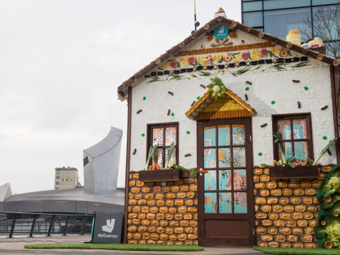 Deliveroo creates house made entirely out of food – with curry fireplace and Yorkshire pudding garden