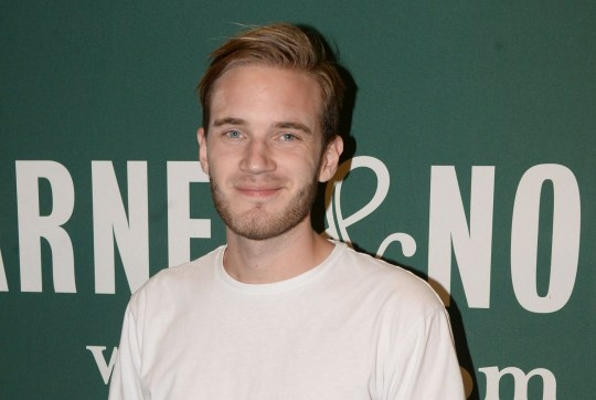 """LOS ANGELES, CA - OCTOBER 30: Comedian PewDiePie attends his book signing for """"This Book Loves You"""" at Barnes & Noble at The Grove on October 30, 2015 in Los Angeles, California. (Photo by Matt Winkelmeyer/Getty Images)"""