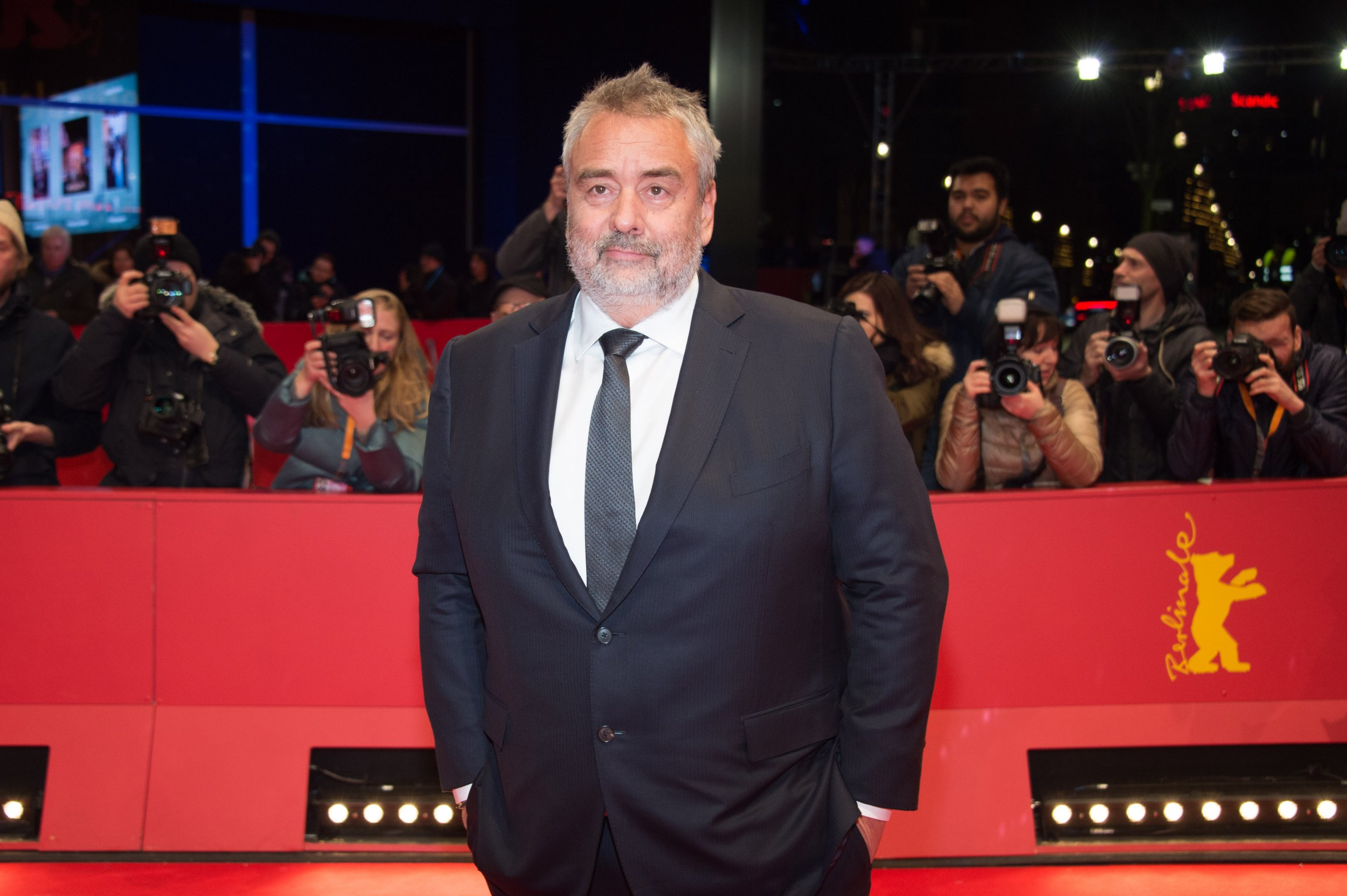 BERLIN, GERMANY - FEBRUARY 17: Luc Besson attends the 'Eva' premiere during the 68th Berlinale International Film Festival Berlin at Berlinale Palast on February 17, 2018 in Berlin, Germany. (Photo by Stephane Cardinale - Corbis/Corbis via Getty Images)