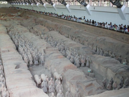 These are the Terracotta Warriors protecting the Qin Mausoleum's east front (Picture: Giulio Magli)