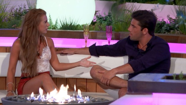 Editorial use only Mandatory Credit: Photo by ITV/REX/Shutterstock (9705565k) Dani Dyer and Jack Fincham 'Love Island' TV Show, Series 4, Episode 4, Majorca, Spain - 07 Jun 2018 The new girls are the talk of the villa with Dani Dyer and Jack Fincham and Eyal Booker and Hayley Hughes questioning their couplings