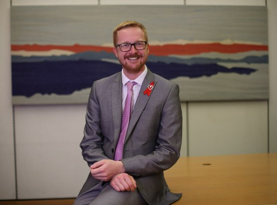 Lloyd Russell-Moyle, Labour MP for Brighton Kemptown, during an interview with the Press Association at Portcullis House, London, where he spoke about his HIV Positive status. PRESS ASSOCIATION Photo. Picture date: Monday November 26, 2018. Mr Russell-Moyle, who has revealed today in the House of Commons his HIV Positive status, is the only current sitting member of parliament to disclose he is living with the virus and said he chose the timing of the announcement to mark the 30th World Aids Day on December 1. See PA story HEALTH HIV. Photo credit should read: Yui Mok/PA Wire