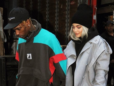 Kylie Jenner joins Travis Scott on stage during his show… on a rollercoaster