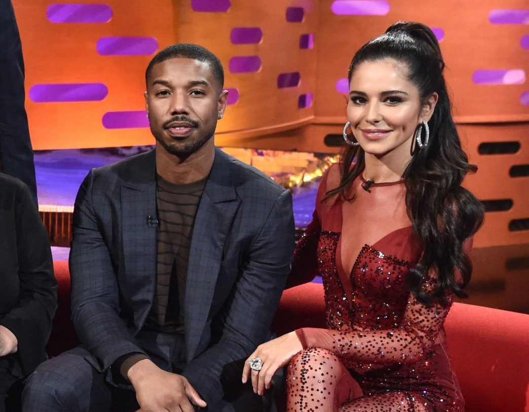 Host Graham Norton with (seated left to right) Ruth Wilson, Steve Carell, Dawn French, Michael B Jordan and Cheryl during the filming of the Graham Norton Show at BBC Studioworks 6 Television Centre, Wood Lane, London, to be aired on BBC One on Friday evening. PRESS ASSOCIATION Photo. Picture date: Thursday November 29, 2018. Photo credit should read: PA Images on behalf of So TV