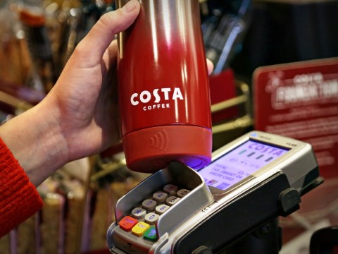 Costa launches coffee cup with a built in contactless card
