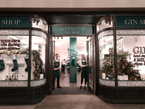 Gingerbread, chocolate and orange and Christmas tree flavoured Sipsmith gins for sale at first shop dedicated to the drink in over 200 years