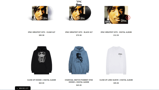 Tupac Shakur estate release limited edition collection for