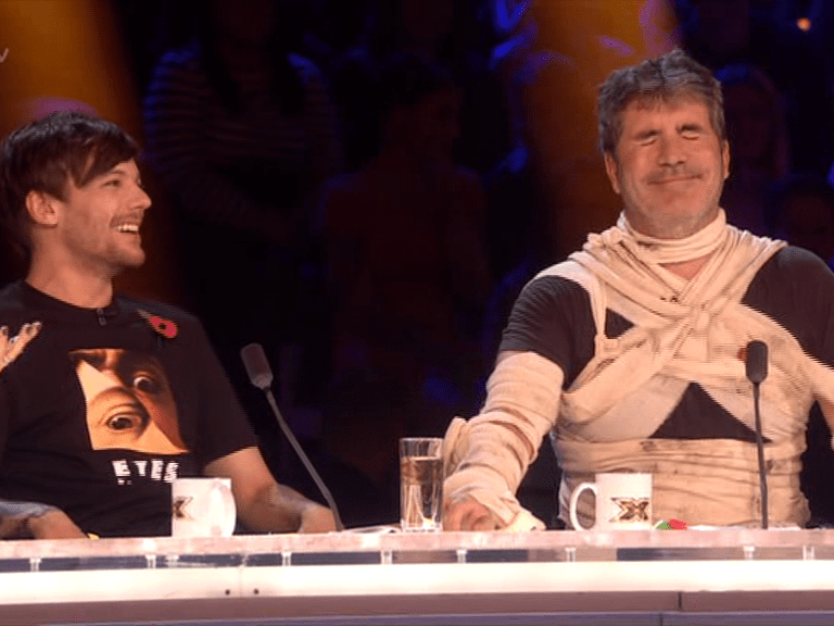 Simon Cowell jokes he's 'drunk' on The X Factor after Giovanni Spano's performance