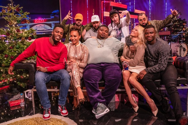 the cast of an episode of the big narstie show