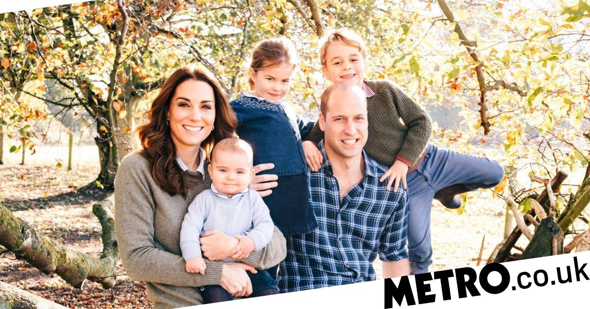 Prince George looks cheeky as ever in Christmas family photograph