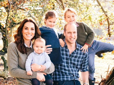 Royal Christmas cards show relaxed Wills and Kate with George, Charlotte and Louis