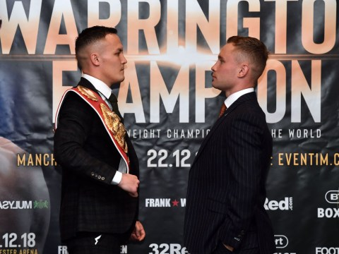 Josh Warrington and Carl Frampton both make featherweight limit for their world title fight