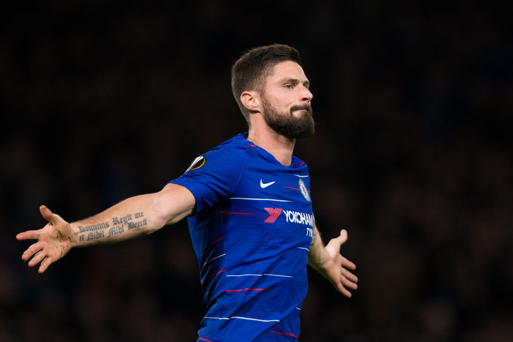 Olivier Giroud admits he has jealousy towards current Chelsea team-mates