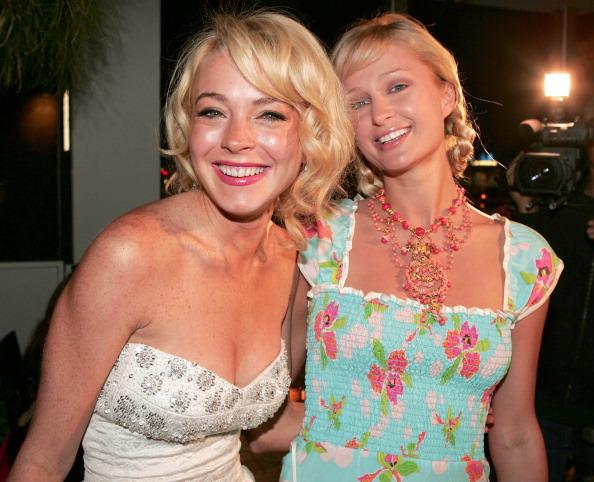 Paris Hilton and Lindsay Lohan