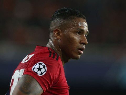Manchester United captain Antonio Valencia has to be told to applaud away fans after Valencia defeat