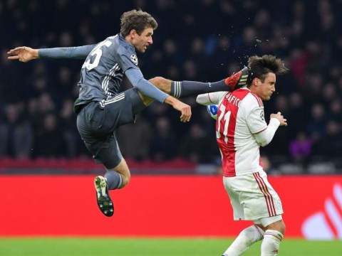 Thomas Muller apologises after kung-fu kicking Nicolas Tagliafico in the head