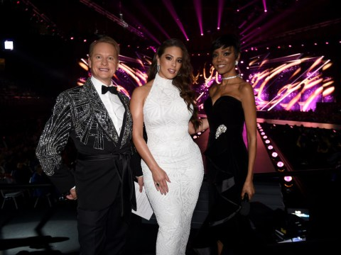 Ashley Graham falls down the stairs at the Miss Universe 2018 contest as medics tend to her badly cut shin